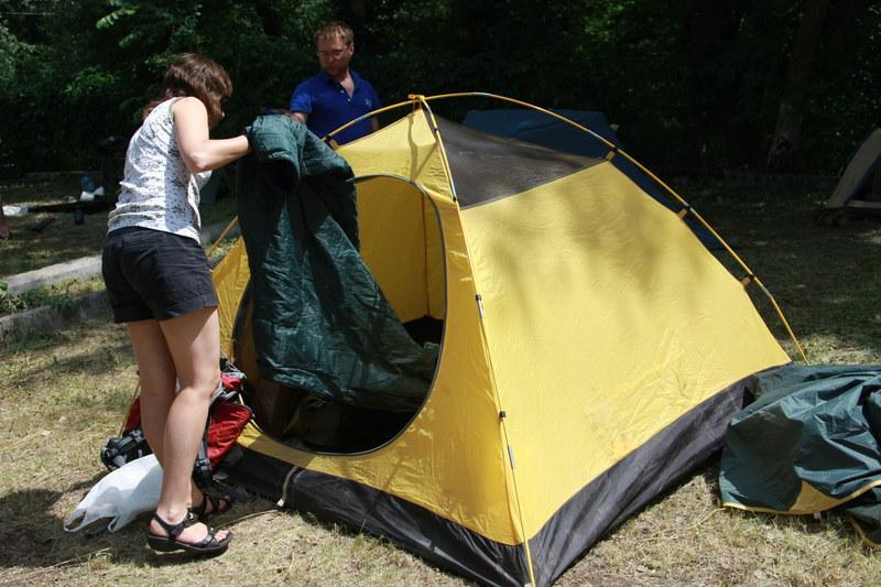 Всё, потихоньку уже и палатки складываются.