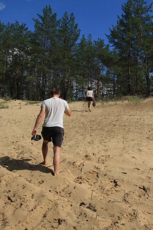 Песчаная дюна на другом берегу. Ну ок, пусть не настоящая дюна, но там было чудесно...